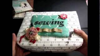 Altered Retro Sewing Box For June Ssscigar Box Swap
