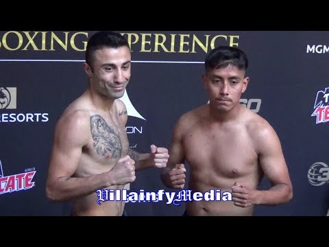 MIKE MALIKYAN VS ALFREDO HERNANDEZ WEIGH IN & FACE OFF FOR 360 TIONS INAUGURAL