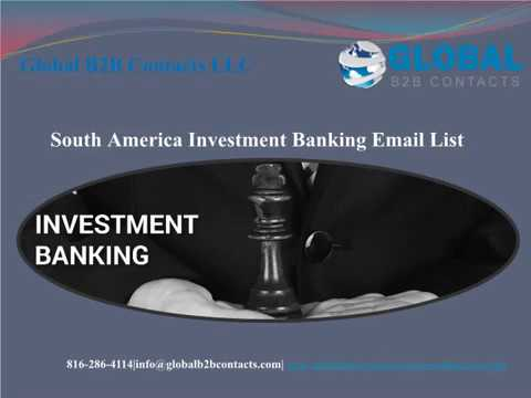 South America Investment Banking Email list