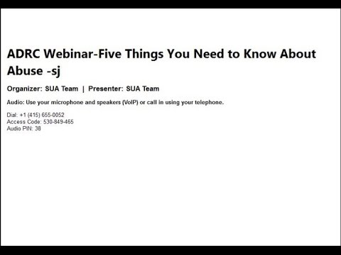 ADRC Five Things you Need to Know