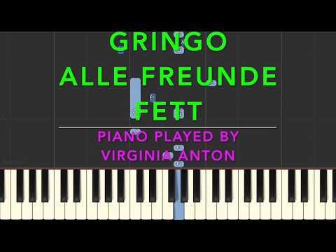 Gringo *Alle Freunde fett* Piano Cover - Synthesia Tutorial