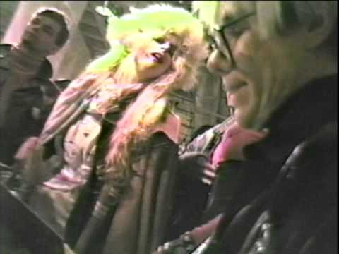 "Andy Warhol Autographs His Book ""America"" At Fiorucci On Valentine's Day 1986"