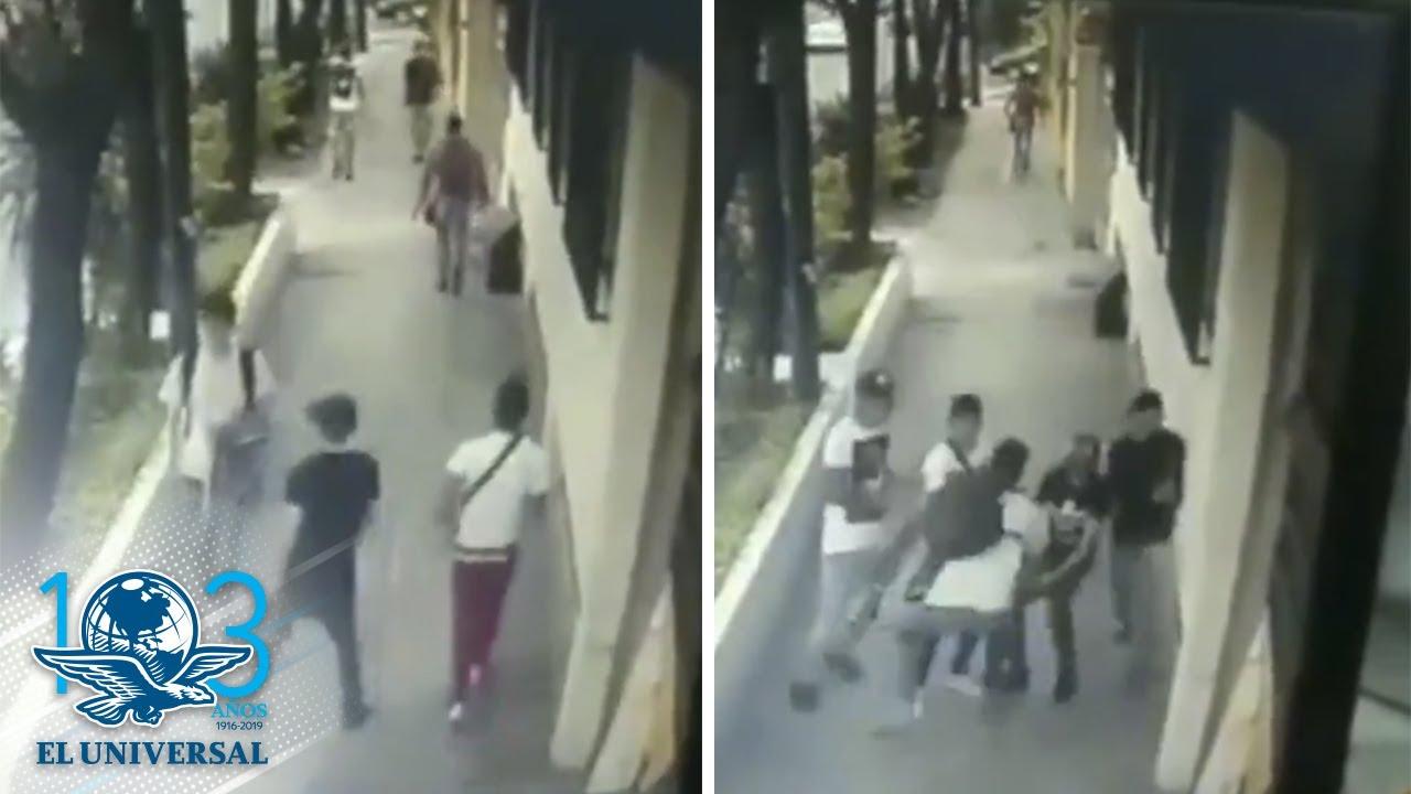 Captan a banda de adolescentes en asalto a otro joven