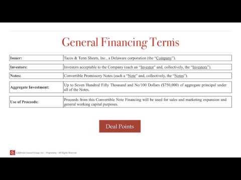 Convertible Debt Term Sheet Explained