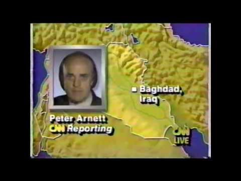 Operation Desert Storm - CNN Live News Coverage - Part 1