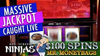 VGT SLOTS - $32,500 BIGGEST JACKPOT EVER CAUGHT LIVE $100 SPIN MR. MONEY BAGS RIVERWIND CASINO, OK