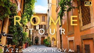 4K | Rome Tour and Jazz Bossa Nova Playlist | How to Relax | Virtual Tour | Jazz | Work Music | ジャズ screenshot 5