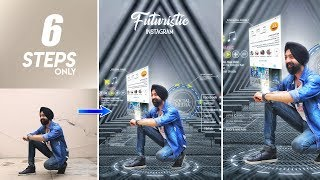 Futuristic Instagram Viral Editing | Photo Editing Tutorial in Mobile | Hindi