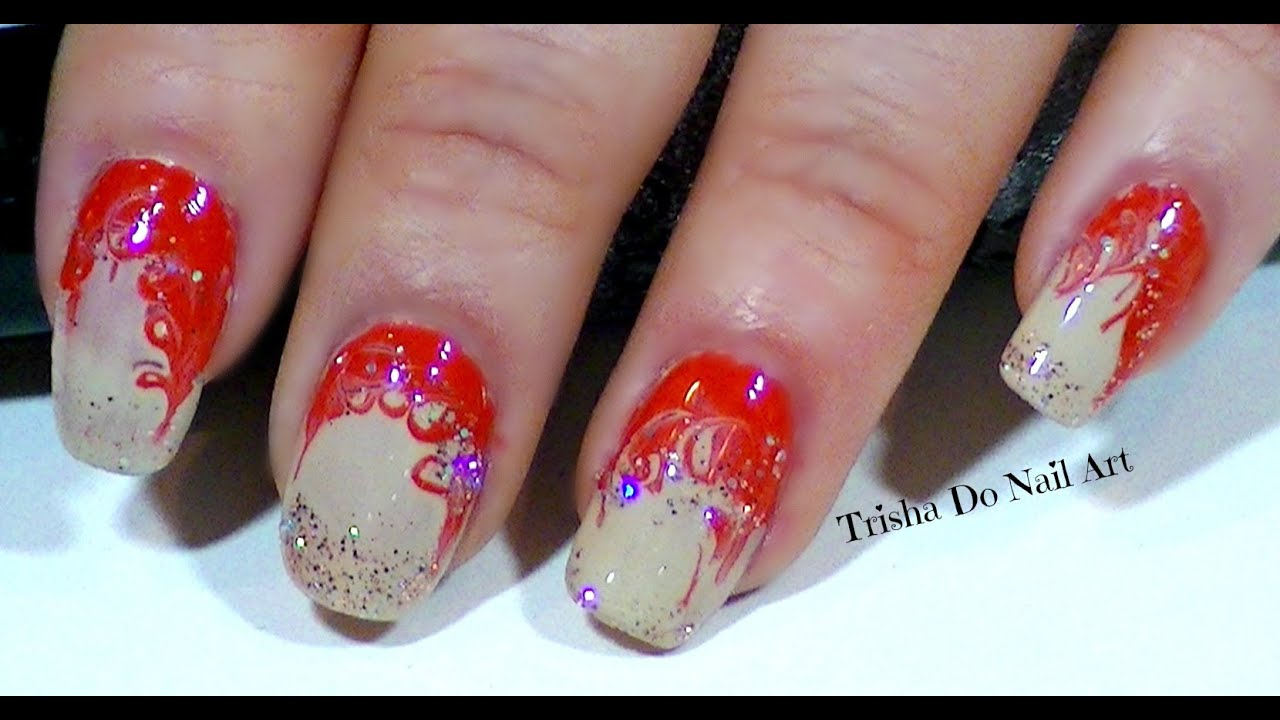 toothpick marbling nail