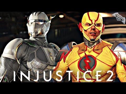 Injustice 2 - Reverse Flash vs Epic Godspeed Flash Gear! (1080p 60fps HD)