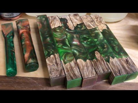 Hybrid Pen Blanks with Liquid Diamonds Epoxy Resin