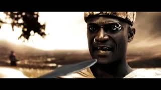 300 спартанцев — Короткий разговор Леонида с посланником Ксеркса, фильм 2007 года
