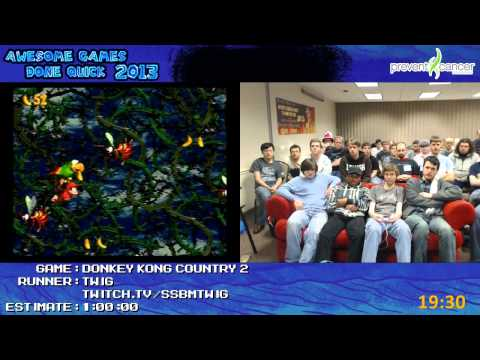 Donkey Kong Country 2 - Speed Run in 0:48:02 by Twig *Live at AGDQ 2013 [Super NES]
