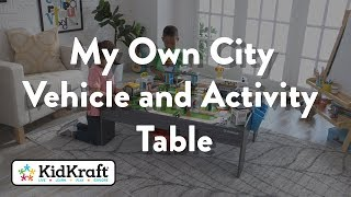 My Own City Vehicle And Activity Table With With Ez Kraft Assembly™ Toy Demo By Kidkraft