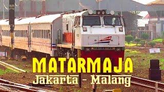 Lokomotif Dipo Bandung Dinas Kereta Api Matarmaja ke Malang