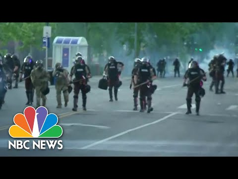 Minnesota National Guard And Police Clash With Protesters | NBC Nightly News
