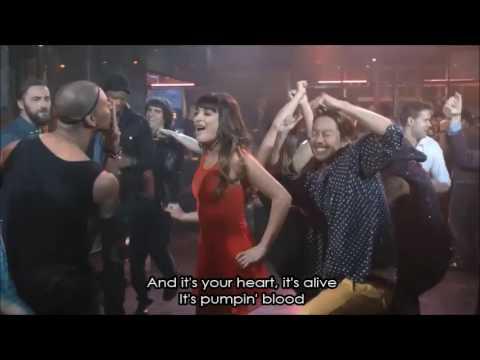 Glee - Pumpin' Blood (Full Performance with Lyrics)