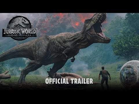 Jurassic World: Fallen Kingdom - Official Trailer [HD]: Jurassic World: Fallen Kingdom In Theaters June 22, 2018   https://www.jurassicworld.com  It's been four years since theme park and luxury resort Jurassic World was destroyed by dinosaurs out of containment.  Isla Nublar now sits abandoned by humans while the surviving dinosaurs fend for themselves in the jungles.  When the island's dormant volcano begins roaring to life, Owen (Chris Pratt) and Claire (Bryce Dallas Howard) mount a campaign to rescue the remaining dinosaurs from this extinction-level event.  Owen is driven to find Blue, his lead raptor who's still missing in the wild, and Claire has grown a respect for these creatures she now makes her mission.  Arriving on the unstable island as lava begins raining down, their expedition uncovers a conspiracy that could return our entire planet to a perilous order not seen since prehistoric times.  With all of the wonder, adventure and thrills synonymous with one of the most popular and successful series in cinema history, this all-new motion-picture event sees the return of favorite characters and dinosaurs—along with new breeds more awe-inspiring and terrifying than ever before.  Welcome to Jurassic World: Fallen Kingdom.    Stars Pratt and Howard return alongside executive producers Steven Spielberg and Colin Trevorrow for Jurassic World: Fallen Kingdom.  They are joined by co-stars James Cromwell, Ted Levine, Justice Smith, Geraldine Chaplin, Daniella Pineda, Toby Jones, Rafe Spall and Isabella Sermon, while BD Wong and Jeff Goldblum reprise their roles.  Directed by J.A. Bayona (The Impossible), the epic action-adventure is written by Jurassic World's director, Trevorrow, and its co-writer, Derek Connolly.  Producers Frank Marshall and Pat Crowley once again partner with Spielberg and Trevorrow in leading the filmmakers for this stunning installment.  Belén Atienza joins the team as a producer.