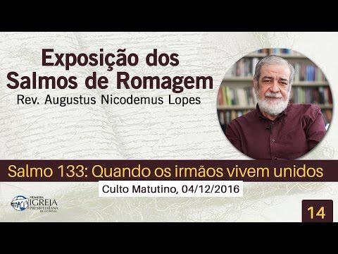 Salmo 133: Quando os irmãos vivem unidos  Rev Augustus Nicodemus
