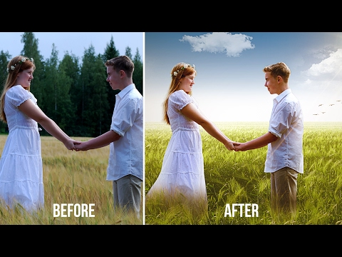 Couple Wedding Photos Editing In Photoshop   Change Background   Edit Outdoor Photography