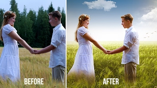 Couple Wedding Photos Editing in Photoshop | Change Background | Edit Outdoor Photography