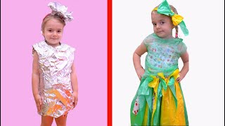 Anabella makes a new Dress for Birthday   Cool DIY Ideas