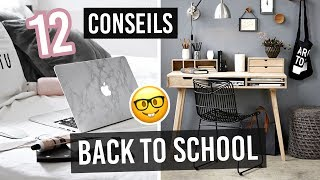 12 CONSEILS POUR RÉUSSIR SON ANNÉE 💪🏻📚/ BACK TO SCHOOL 2018