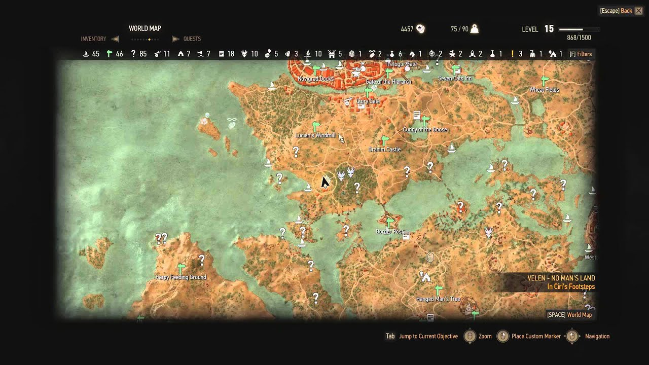 Witcher 3 - 3 Lesser glyph diagrams locations - YouTube