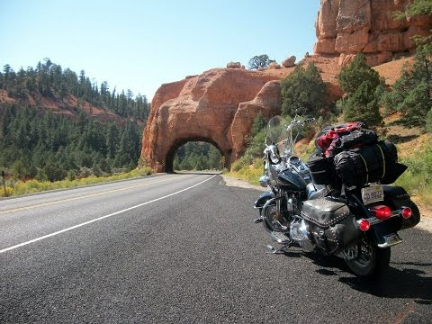 Harley Davidson road trip Red canyon Utah highway 12 Bryce Canyon national park motorcycle ride