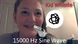 Dog Whistle for Kids, 15000 Hz Sine Wave