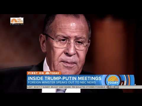 Lavrov trolls NBC questions about Putin-Trump meeting: Maybe they went to the toilet together