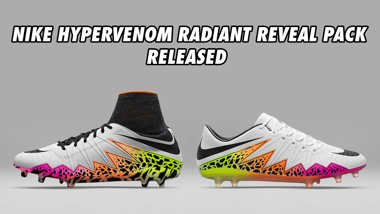 8d27fcd54 Nike Hypervenom Radiant Reveal Pack 2016 Boots Released
