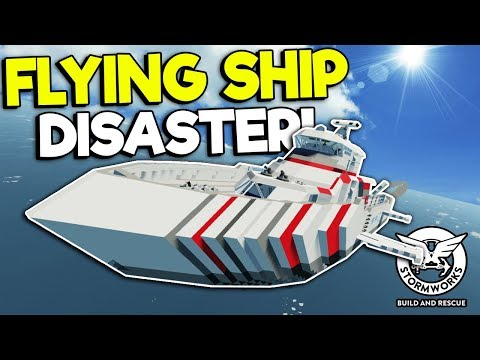 MULTIPLAYER FLYING BOAT DISASTER! - Stormworks: Build And Rescue Gameplay - Sinking Ship Survival