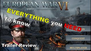 European War 6 1914: Trailer Review! | Everything you need to know about the new game