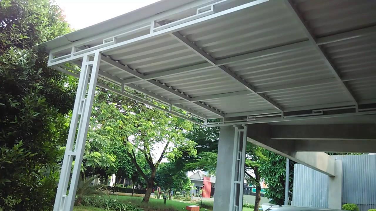 0818712316 canopy carport minimalis  kanopi  alderon  rooftop