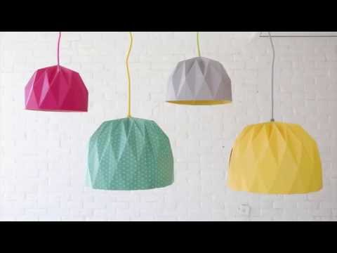 How to Fold a Large Origami Lampshade