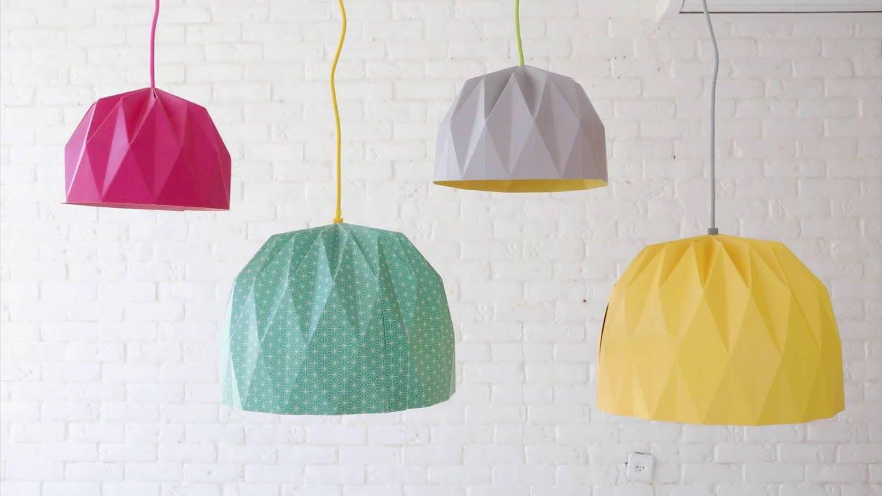 tutorial origami lamp