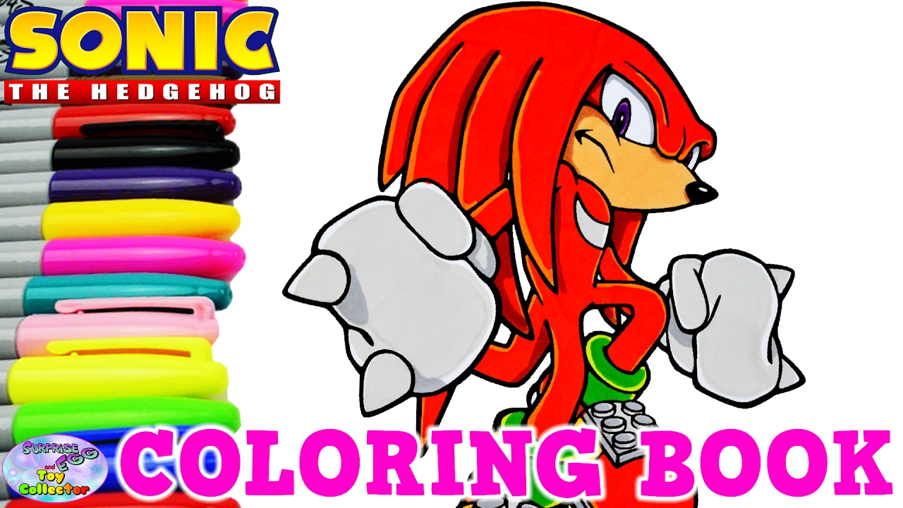 sonic the hedgehog coloring book knuckles episode surprise egg and toy collector setc - Sonic The Hedgehog Coloring Book