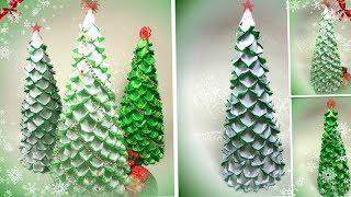 Ёлочка своими руками из атласных лент, канзаши Мк / diy Christmas tree