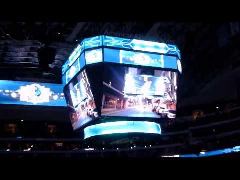Pregame show at Dallas Mavericks basketball at American Airlines Center.