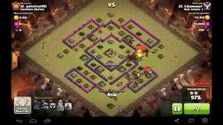 Clash of Clans , Th 8 ejder balon ile 3 yıldız saldırıları (kibamurat)