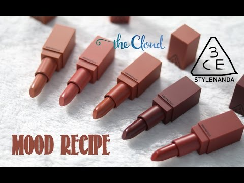 3ce-mood-recipe-matte-lip-color-swatch-&-review