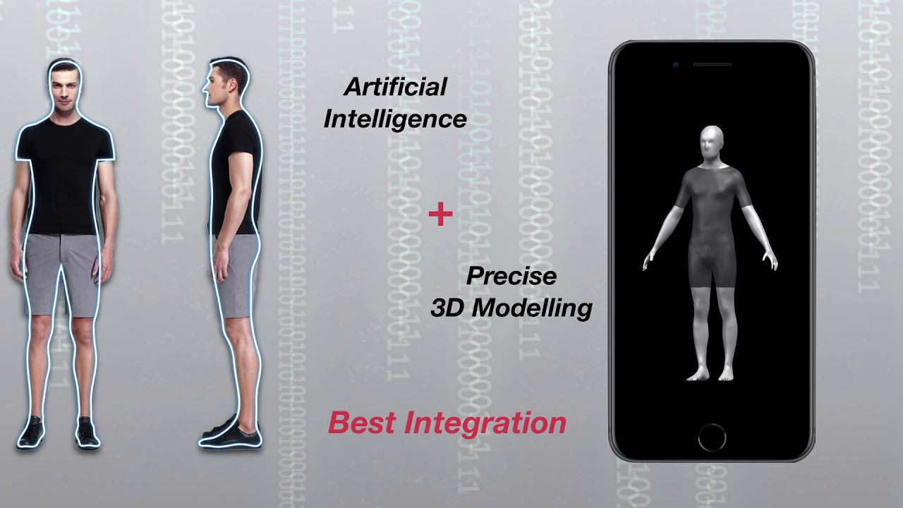 Intelligent 3-D human modelling technology projects body shape and