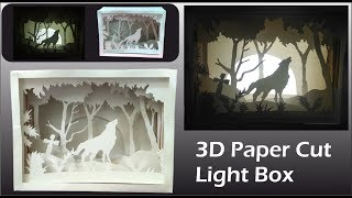 3D Paper Cut Light Box - Amazing DIY Room Decor Easy Crafts Idea