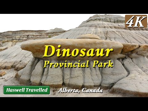 Dinosaur Provincial Park with Badlands Trail - What to See Alberta, Canada travel 4K Ultra HD / UHD