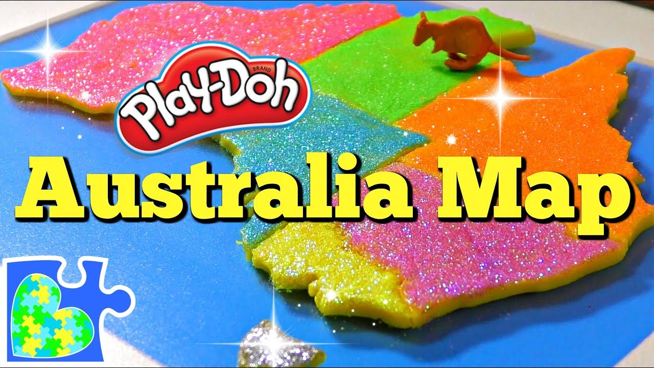 map of australia for kids learn about australia amazing play doh puzzle of the country