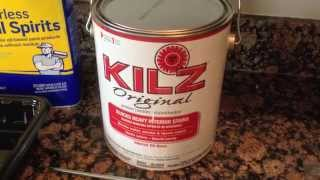 How to Paint Kitchen Cabinets: Step 7 Priming