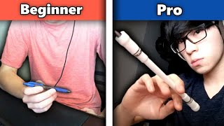 Download lagu Can 3 complete beginners learn to do pen tricks?