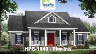 Hpg-1640-1 1,640 Sf, 3 Bed, 2 Bath Country House Plan By House Plan Gallery