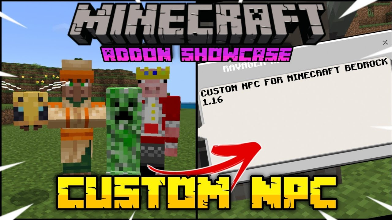 ✓ How To Get Custom NPC in Minecraft PE  NPC EXPANSION Addon for Minecraft  Bedrock 10.106+